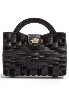 Topshop Saffi Woven Wicker Top Handle Bag