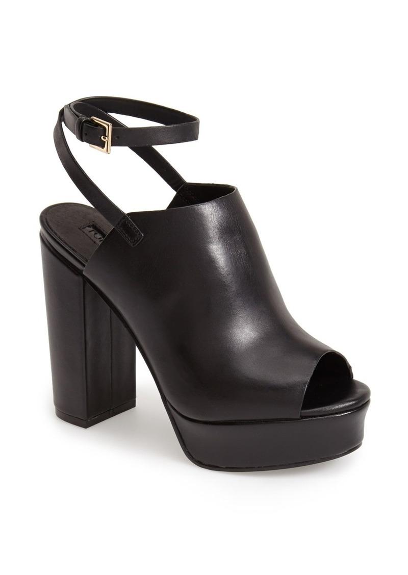 470e24cea35 'Sagittarius' Leather Ankle Strap Open Toe Platform Sandal (Women)