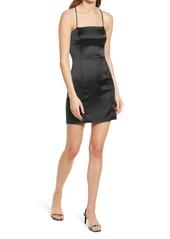 Topshop Satin Body-Con Minidress