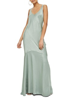 Topshop Satin Fishtail Gown