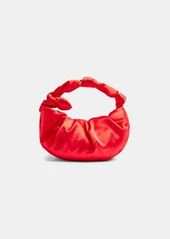 Topshop satin knot purse in red