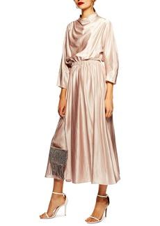 Topshop Satin Maxi Dress