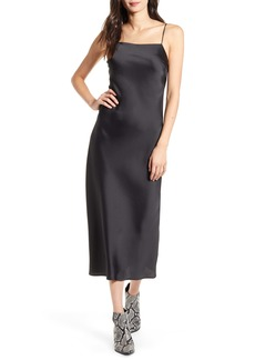 Topshop Satin Midi Slipdress