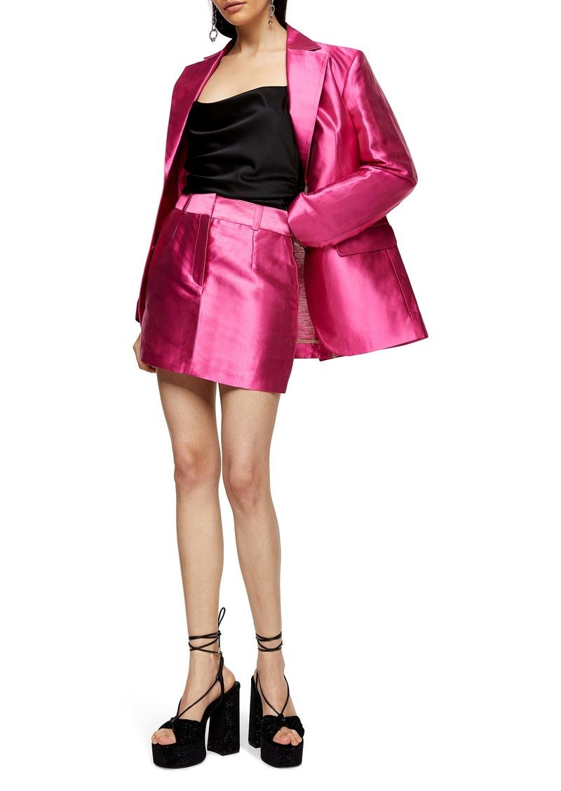 Topshop Satin Miniskirt