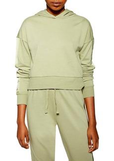 Topshop Satin Panel Lounge Hooded Sweatshirt