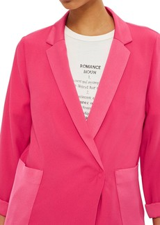 Topshop Satin Pocket Blazer