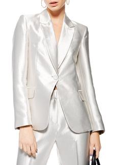 Topshop Satin Suit Jacket