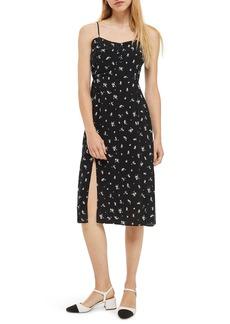 Topshop Scatter Floral Button Dress