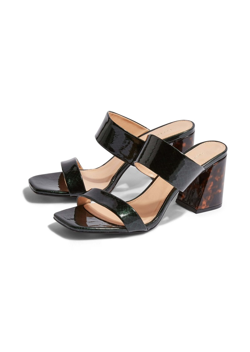 231857d88 Topshop Topshop Selina Tortoiseshell Heel Slide Sandal (Women)