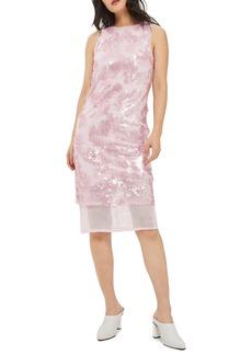 Topshop Sequin Airtex Dress