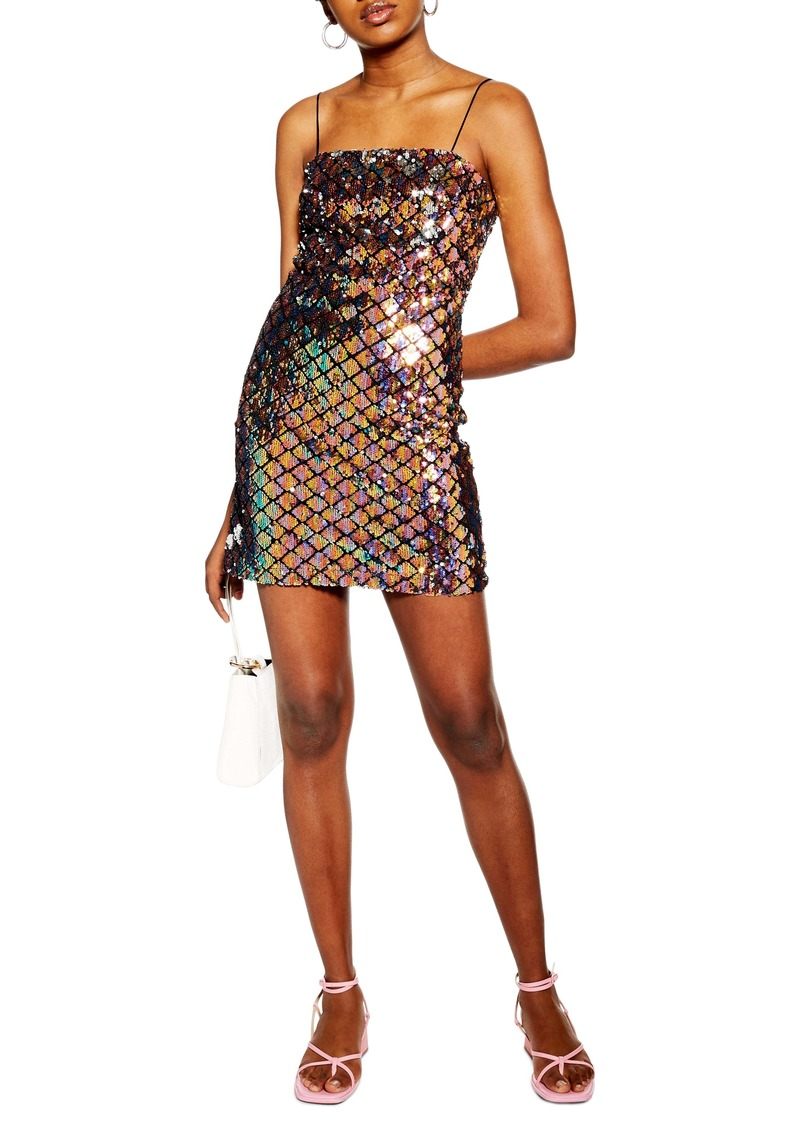 Topshop Sequin Minidress