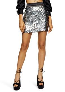 Topshop Sequin Miniskirt