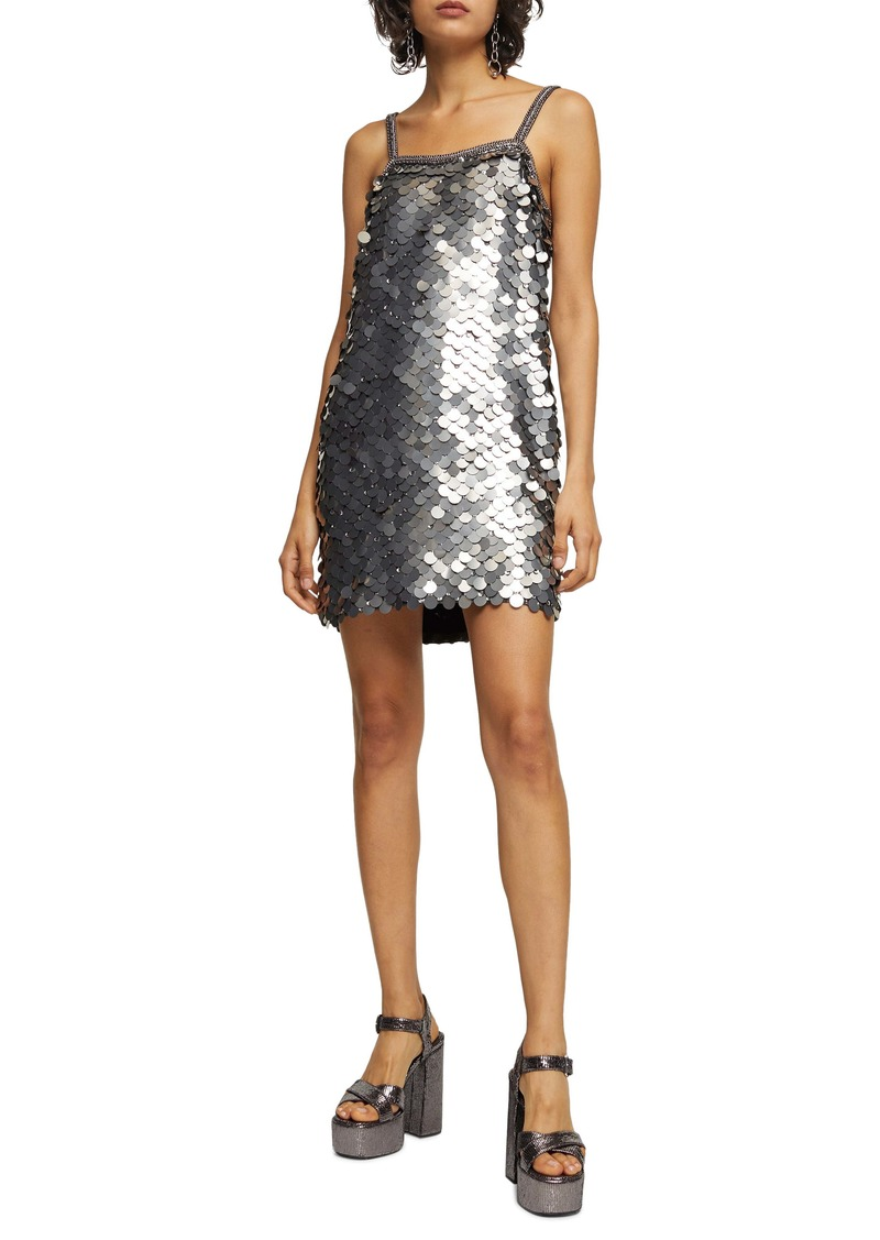 Topshop Sequin Slipdress