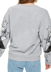 16c2ba44411 Topshop Sequin Star Sleeve Sweatshirt Topshop Sequin Star Sleeve Sweatshirt