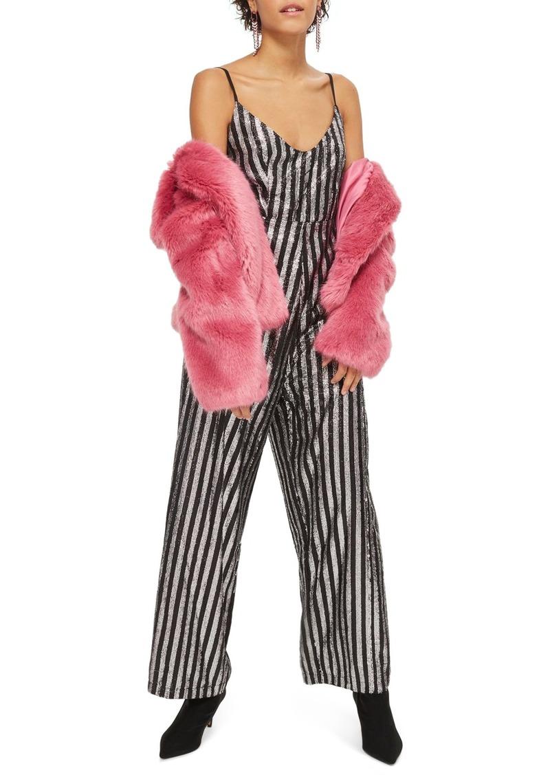 365f625deda5 SALE! Topshop Topshop Sequin Stripe Jumpsuit