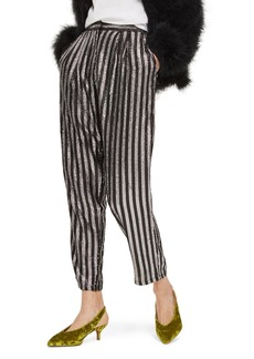 Topshop Sequin Stripe Mensy Trousers