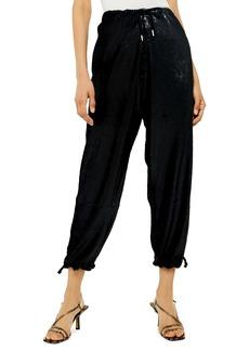 Topshop Sequin Tie Waist Jogger Pants