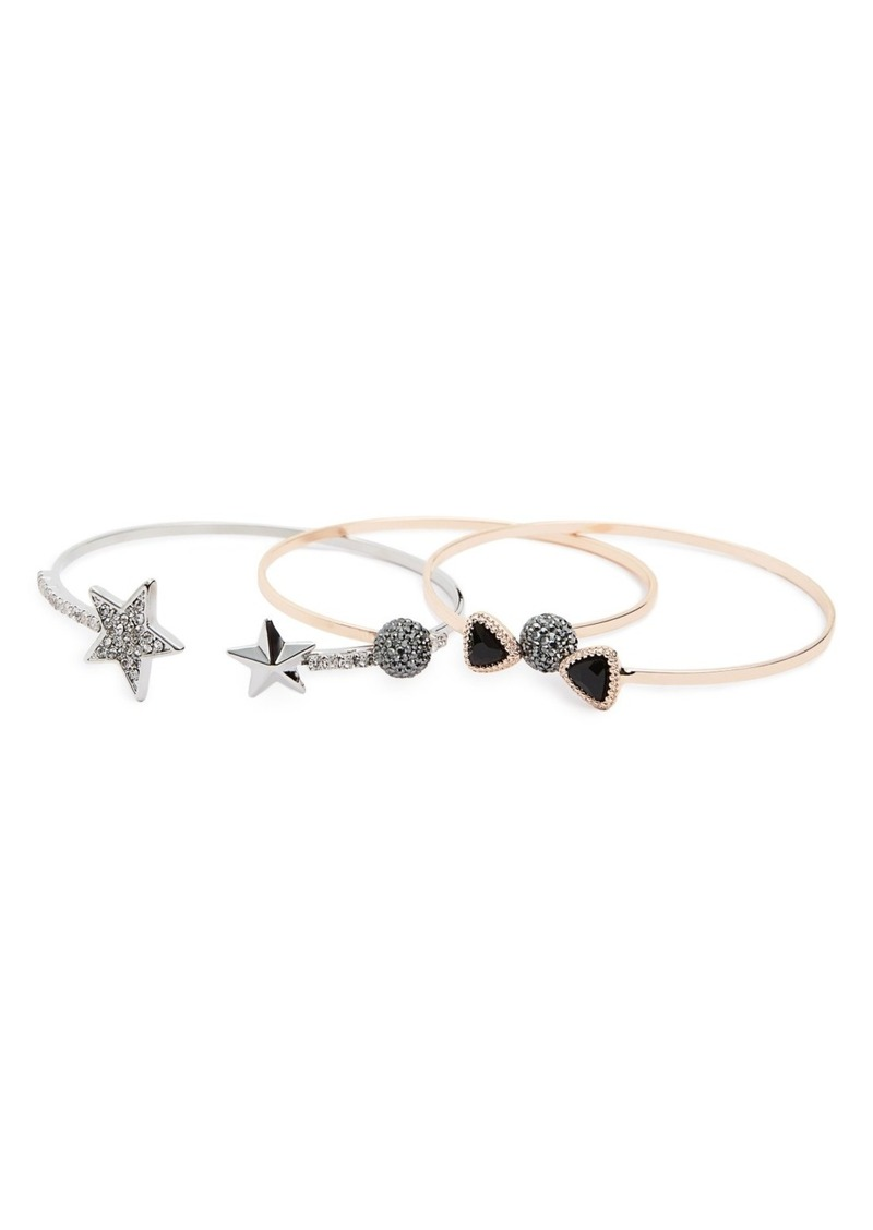 Topshop Set of 3 Cuff Bracelets