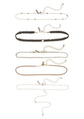 Topshop Set of 5 Assorted Chokers