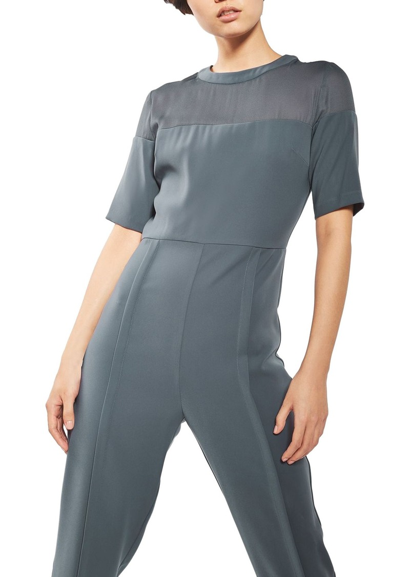 Topshop Sheer Yoke Jumpsuit
