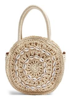 Topshop Shell Straw Round Grab Bag