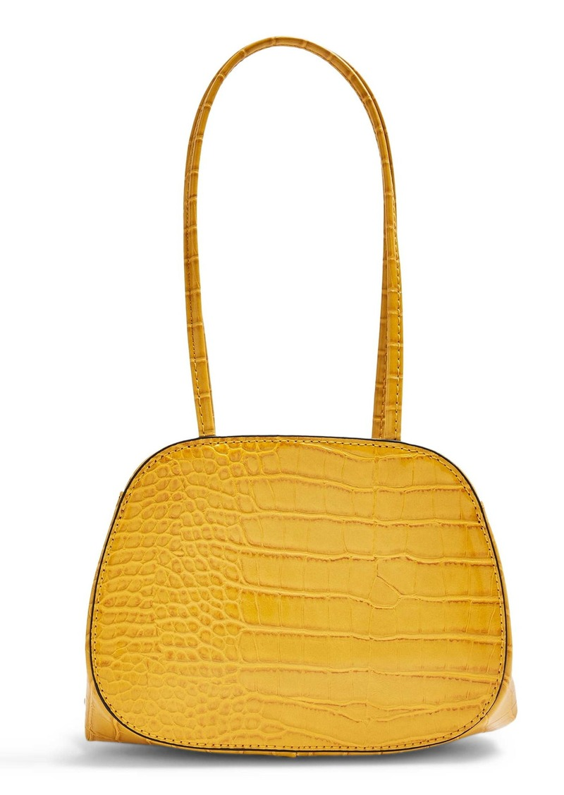 Topshop Shine Crocodile Embossed Mini Bag