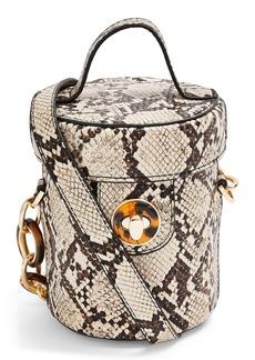 Topshop Shona Barrel Snakeprint Handbag
