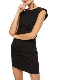 Topshop Shoulder Pad Body-Con Minidress