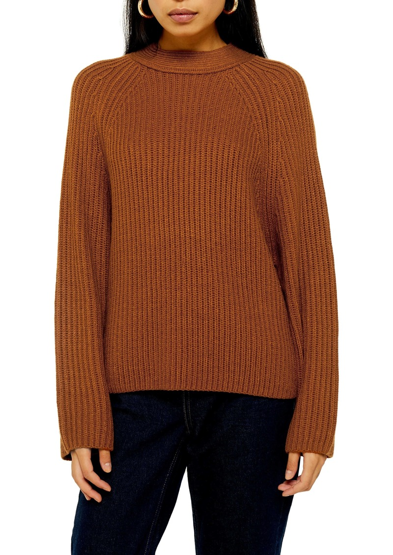 Topshop Side Button Sweater