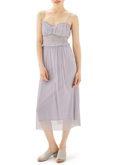 Topshop Side Cutout Tulle Midi Dress (Regular & Petite)