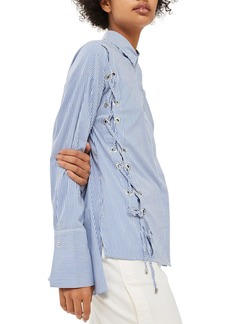 Topshop Side Lace-Up Shirt