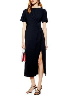 Topshop Side Slit Midi Dress