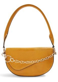 Topshop Sienna Chain Faux Leather Shoulder Bag