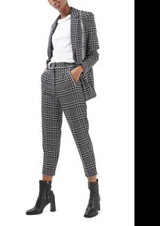Topshop Sienna Check Peg Trousers