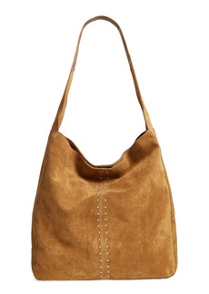 Topshop Sienna Studded Leather Hobo