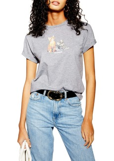 Topshop Sisterhood Cat Tee
