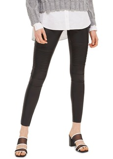 Topshop Skinny Faux Leather Biker Pants