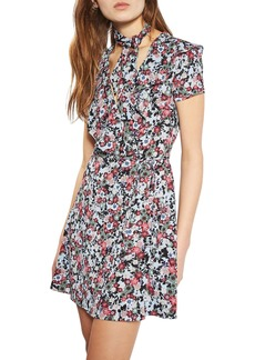 Topshop Sky Floral Wrap Dress