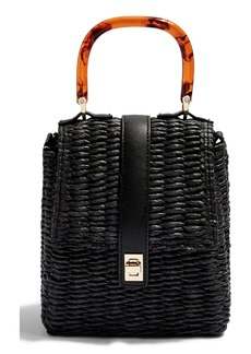 Topshop Skyla Top Handle Straw Grab Bag