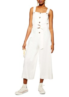 Topshop Sleeveless Cropped Jumpsuit