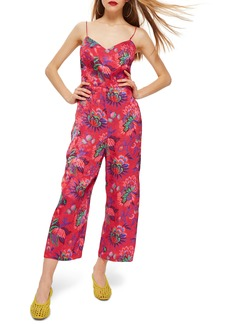 Topshop Sleeveless Floral Jumpsuit