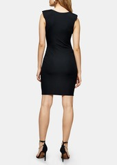 Topshop Sleeveless Shoulder Pad Body-Con Minidress