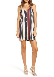 Topshop Sleeveless Stripe Minidress