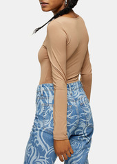 Topshop Slinky Long Sleeve Bodysuit