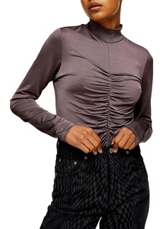 Topshop Slinky Ruched Top