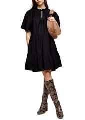 Topshop Smocked Poplin Dress