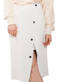 Topshop Snap Midi Skirt
