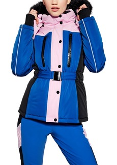 Topshop SNO Colorblock Fitted Jacket