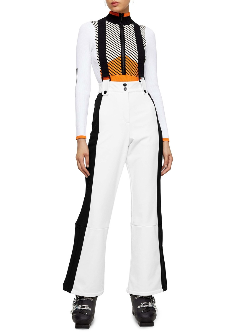 Topshop SNO Europa Water Repellent Flare Snow Pants