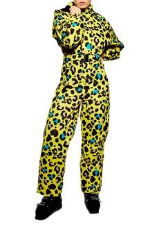 Topshop Sno Gwen Waterproof Leopard Jumpsuit
